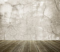 Wall with cracks Stock Photos