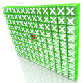 Wall crosses design information related to selection ban Royalty Free Stock Image