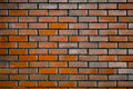 Wall of Dark Red Brick Royalty Free Stock Photo