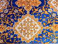 Wall decor in Samarkand. Royalty Free Stock Image