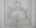 Wall decoration luxury design with mouldings Royalty Free Stock Image