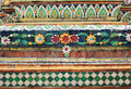 Wall decoration in thailand beautiful at a historic temple Royalty Free Stock Images