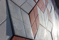 A wall of decorative tiles Royalty Free Stock Photo