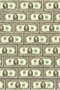 Wall from dollars, a background for design Royalty Free Stock Photo