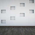 Wall empty shelves Stock Photography