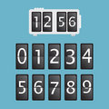 Wall flap counter clock template eps Stock Photography