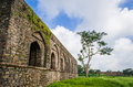 Wall framing clicked beautiful cloud formation along with and tree dai ka mahal india mandu is another prominent destination of Royalty Free Stock Photos