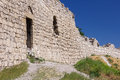 Wall of the genoese fortress fragment stone sudak ukraine Royalty Free Stock Image