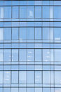 Wall with glass windows in new office Royalty Free Stock Photo