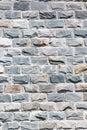 Wall of granite bricks as background Royalty Free Stock Photo