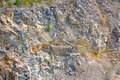 Wall of granite quarry Royalty Free Stock Photo