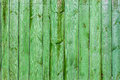 Wall green planks Royalty Free Stock Image