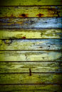 Wall green wood vertical Stock Photography