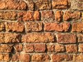 Wall grunge of red bricks Stock Image