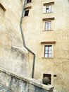 Wall with gutter on the of the historic building Royalty Free Stock Photo