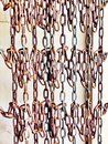 Wall of hanging chains Royalty Free Stock Photo