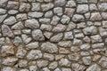 Wall of hewn natural stone Royalty Free Stock Photo