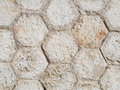 Wall hexagonal stones tiles and rustic Royalty Free Stock Photography