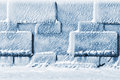 Wall of ice cubes as texture or background Stock Images
