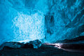 Wall of ice in an icecave in iceland Royalty Free Stock Photography