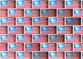 Wall with images of the flag of america texture