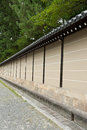 Wall in kyoto wal of the imperial palace japan Royalty Free Stock Photography