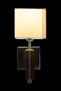 Wall lamp isolated on black Royalty Free Stock Photo