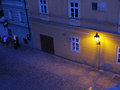 Wall lamp in street at twilight Stock Photography