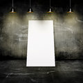 Wall with lamps and a sheet of paper Royalty Free Stock Photo