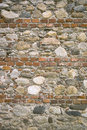 Wall made of brick and stone Royalty Free Stock Photo