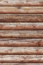 Wall made of logs house Royalty Free Stock Image