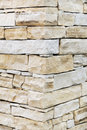 Wall made from sandstone bricks Stock Image