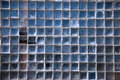 Wall made of Square Glass Blocks Royalty Free Stock Photography