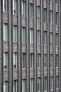 Wall with many windows. Royalty Free Stock Photo