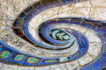 Wall Mosaic Swirl Royalty Free Stock Photo