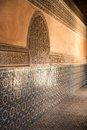 Wall of a mosque the beautiful moroccan Royalty Free Stock Photography