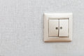 Wall mounted light switch on room close up Stock Photography