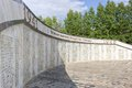 The wall with names heroes who died in of defending their country from nazis russia tver region city udomlya Royalty Free Stock Photos
