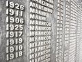 Wall of names ww war casualties on ww memorial in tomsk russia Royalty Free Stock Photo