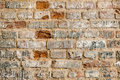 The wall old brick of multicolored bricks Royalty Free Stock Image