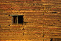 Wall of an old farm house with warm colors ruins early th century in the australia outback Stock Photo