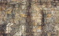 Wall paintings and writings of ancient cambodia Royalty Free Stock Photos