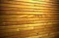 Wall paneling tiled with wooden panels in the perspective Stock Photography