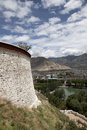 Wall of the Potala Stock Image