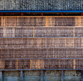Wall of prayers bamboo displayed at the fushimi inari temple in kyoto japan Stock Image