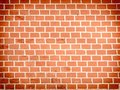 Wall of red bricks as an abstract background Royalty Free Stock Photo