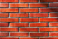 Wall with red bricks Royalty Free Stock Photo