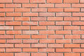 Wall of red bricks texture background Royalty Free Stock Photo