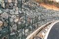 Wall rock landslides Royalty Free Stock Photo
