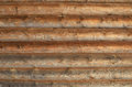 Wall of the rural house from wooden logs Royalty Free Stock Image